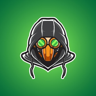 Maschera tossica master sport logo