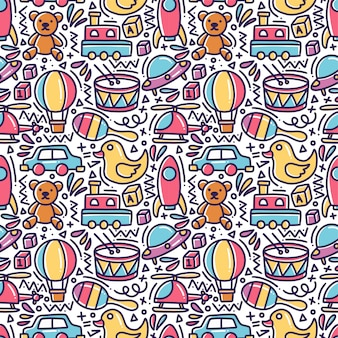 Giocattoli doodle seamless