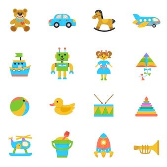Icona piana di giocattoli