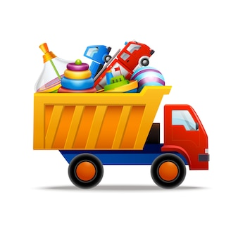 Giocattoli in camion