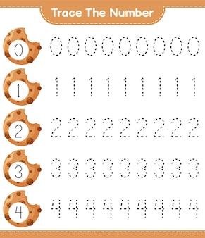Traccia il numero del foglio di lavoro educativo