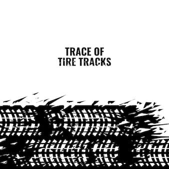 Traccia del design dello sfondo del telaio della pista del pneumatico con tracce di pneumatici doppi
