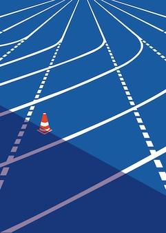 La pista utilizzata nella corsa podistica