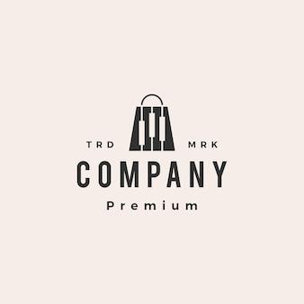 Logo vintage di trading shop candeliere hipster