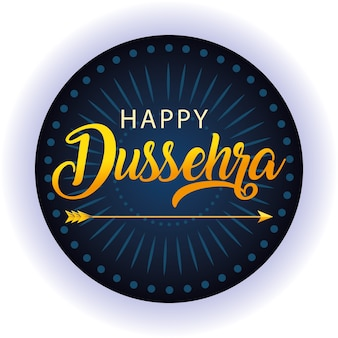 Freccia tradizionale per il festival felice dussehra su sfondo blu
