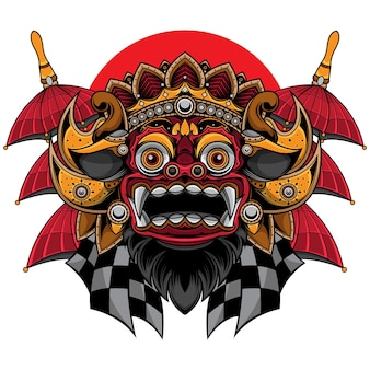 Maschera barong tradizionale balinese