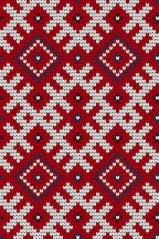 Modello senza cuciture tradizionale a maglia del baltico