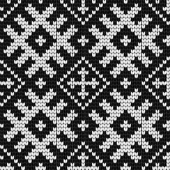 Modello senza cuciture di vettore di lavoro a maglia baltico tradizionale