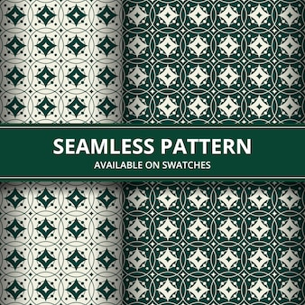 Carta da parati classica senza cuciture del fondo del modello del batik tradizionale. elegante forma geometrica. sfondo etnico di lusso in colore verde