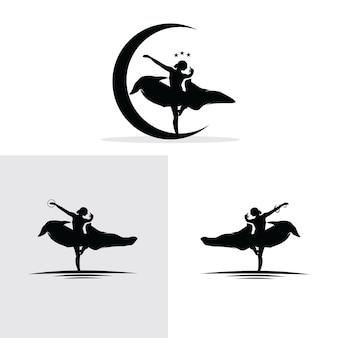 Insieme di raccolta logo ballerino tradizionale