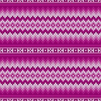 Modello lavorato a maglia tradizionale fair isle
