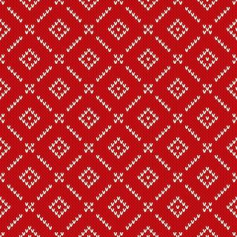Maglione lavorato a maglia in stile fair isle tradizionale. reticolo di lavoro a maglia senza giunte di inverno