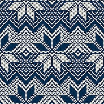 Modello lavorato a maglia senza cuciture in stile fair isle tradizionale