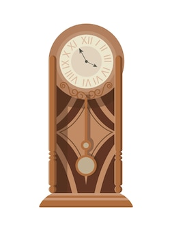 Orologio a pendolo classico da terra o da tavolo con decoro in legno intagliato.