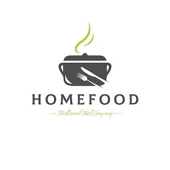 Modello di logo di vettore di cibo tradizionale