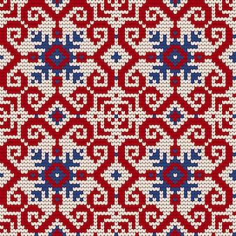 Modello tradizionale a maglia per maglione brutto