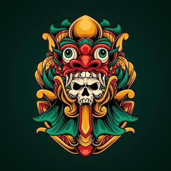 Teschio maschera tradizionale
