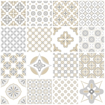 Azulejos tradizionali piastrellati portoghesi. modello vintage per design tessile. mosaico geometrico, maiolica. motivo geometrico senza soluzione di continuità sfondo decorativo. motivo floreale vintage