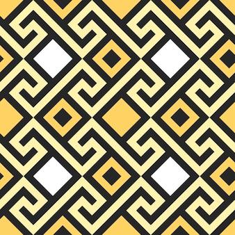 Meandro dell'ornamento greco quadrato dell'oro dell'annata tradizionale senza soluzione di continuità
