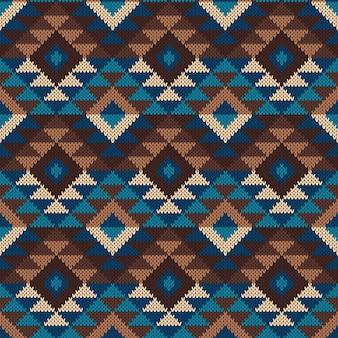 Modello senza cuciture azteco tribale tradizionale