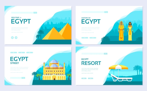Set di carte brochure vacanze tradizionali. modello di flyear, banner web, intestazione ui, entra nel sito.