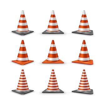 Set di coni di traffico