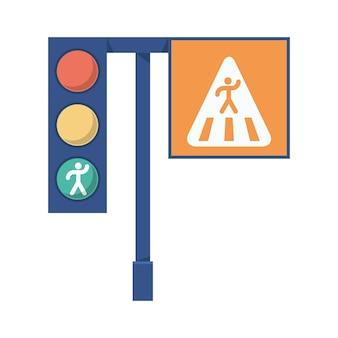 Semaforo e segnaletica pedonale