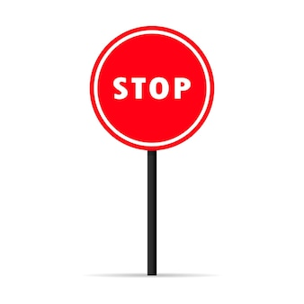 Icona del segnale di arresto del traffico. segnale di avvertimento vietato. vettore su sfondo bianco isolato. env 10.