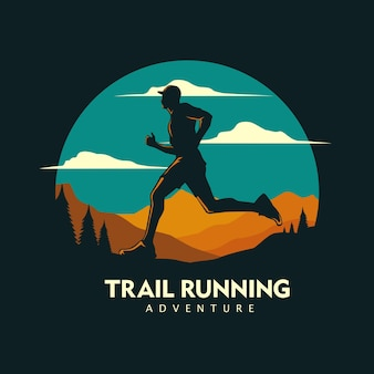 Illustrazione grafica di trail running