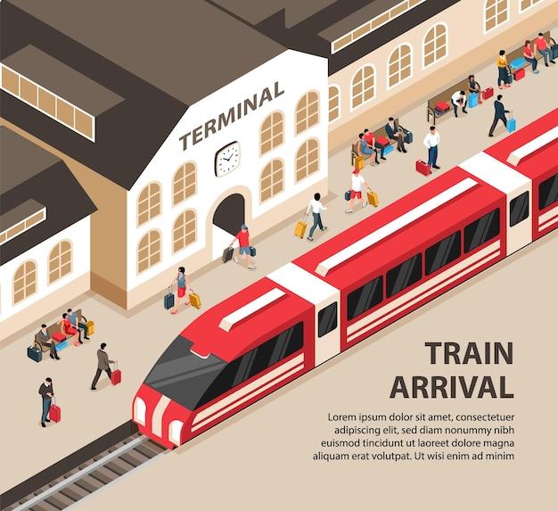 Banner di arrivo del treno