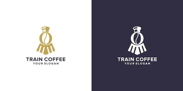 Design del logo del caffè del treno