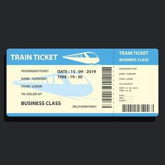Biglietto del treno per viaggiare in treno
