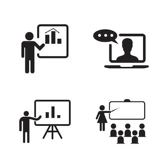 Illustrazione del disegno dell'icona di vettore di formazione modello