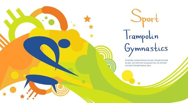 Atleta di ginnastica di trampolino