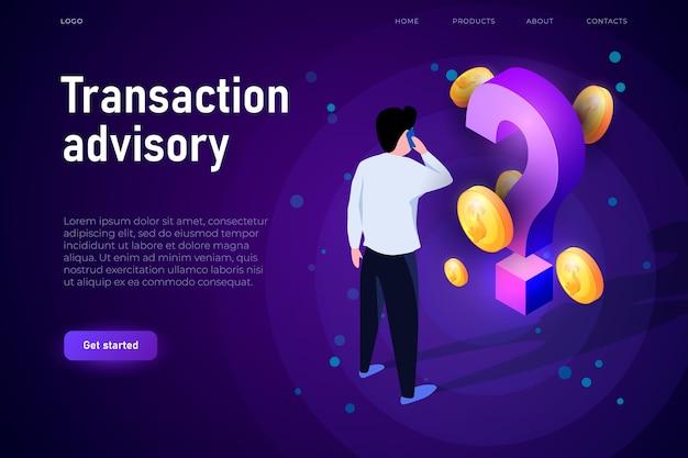 Transaction advisory illustrazione concetto.