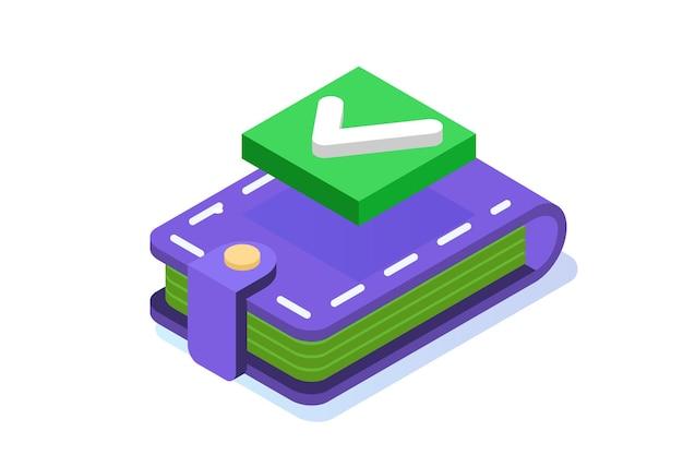 Transazione approvata, transazioni finanziarie, pagamento non in contanti, valuta monetaria, concetto isometrico di pagamento nfc.