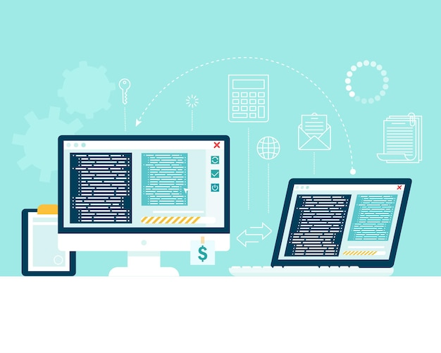 Trasferisci le informazioni da un computer a un altro. trasferimento di file, scambio di dati.