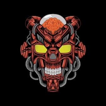 Transformers head mecha illustration