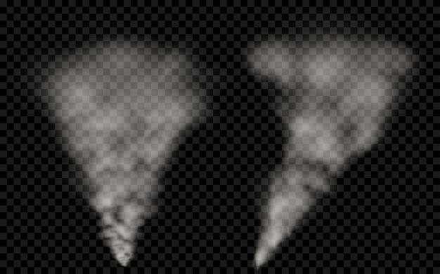 Fumo bianco traslucido. trasparenza solo nel file vettoriale