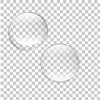 Bolle trasparenti isolate