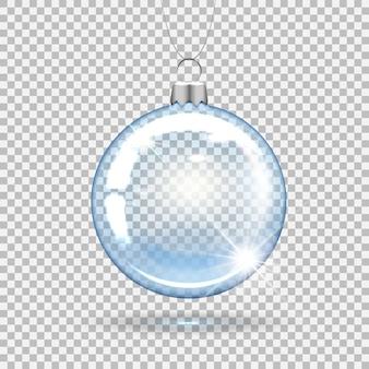 Palla di natale trasparente per decorare l'albero di capodanno.