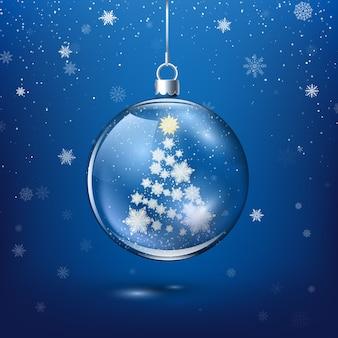 Decorazione natalizia trasparente
