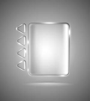 Rettangolo e triangoli in vetro trasparente