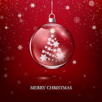 Decorazione natalizia lucida trasparente