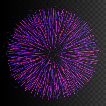 Effetto luce trasparente. linee radiali. effetto esplosione. illustrazione vettoriale eps10