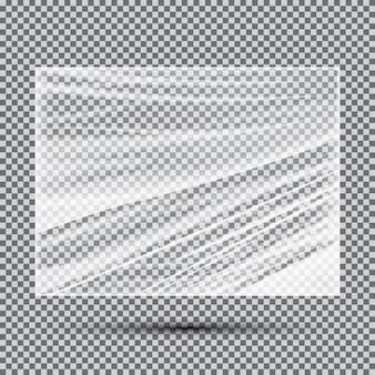 Striscione trasparente in polietilene leggero. illustrazione di vettore.
