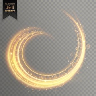 Effetto scia di luce turbolenza trasparente con scintillii