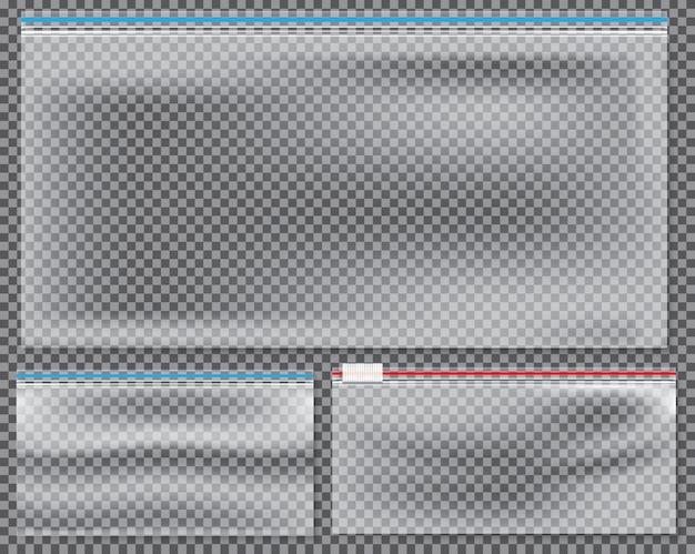 Borsa in nylon trasparente con chiusura o cerniera