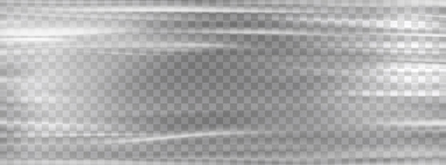 Involucro di plastica trasparente. modello di involucro di plastica elasticizzato bianco in cellophane.