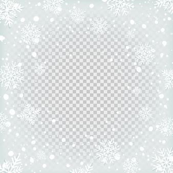 Sfondo di neve trasparente